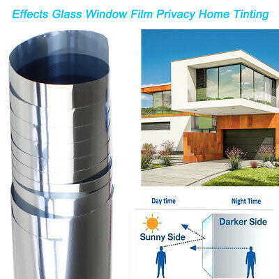 Home Tint Window Film Privacy One Way Mirror Solar Reflective Uv Static Cling
