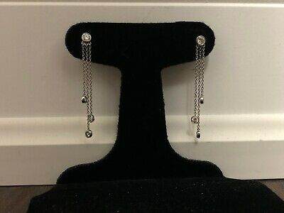 Tiffany & Co. Retired 3 Drop Diamond Platinum Earrings