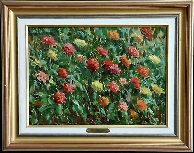 """""""wild Flowers"""" Eugene Alluaud (1866-1947)  French Post Mpressionist Oil Painting"""