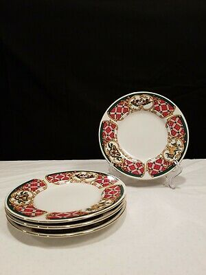 Gibson Housewares Holiday Set Of Four Bread And Butter Plates