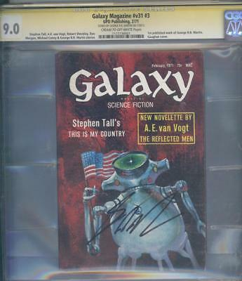 Galaxy Magazine 3 Cgc Ss 9.0 Rare 1st George Rr Martin Pub Work Game Of Thrones