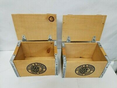 """2x """"vintage"""" Style Ivory Soap Small Wood Metal Crate Procter Gamble Box   2"""