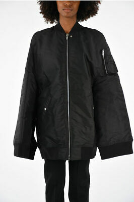Rick Owens Women Jackets Nylon Cotton Moody Flight Down Jacket Black