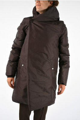 Rick Owens Men Jackets Cotton And Nylon Sashed Liner Down Jacket Raisin Burgundy