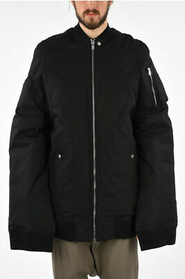 Rick Owens Men Jackets Cotton Blend Moody Flight Jacket Duvet  Black