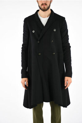 Rick Owens Women Coats And Trench Coats Double Breast Jmf Faun Coat Black