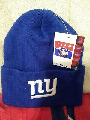 Free Priority Mail/new York Giants Winter Beanie Blue Pull On With Tags Nfl Hat