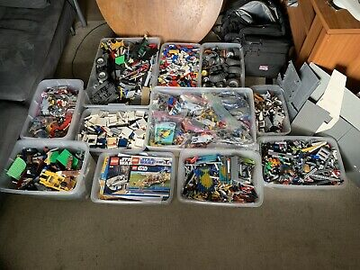 Lot Of 95 Pounds Of Legos 2006-2013, Lego Star Wars And City, 17 Lbs Directions