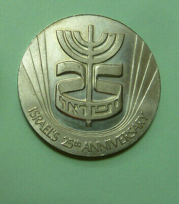Israel 1974. The Annual Badge Of The Israeli State Corporation Medals And Coins