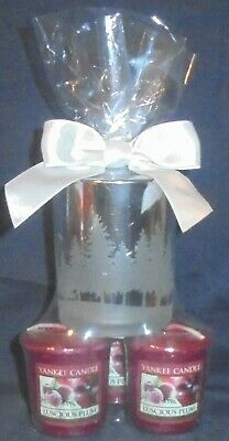 Yankee Candle Luscious Plum & Winterscape Gift Set ~ Free Shipping