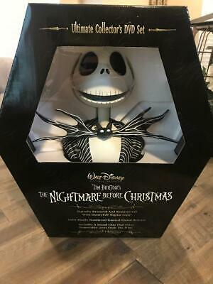 Nightmare Before Christmas Jack Skellington Bust Ultimate Collectors Dvd Set