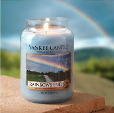 Yankee Candle Rainbows 22 Oz Large Jars Rainbows End Rare Christmas