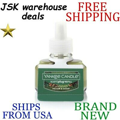 *new* Yankee Candle Balsam & Cedar Scent-plug Electric Home Fragrancer Refill