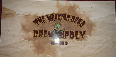 The Walking Dead Crewopoly Season 9 Not Sold In Stores! monopoly Gift To Crew