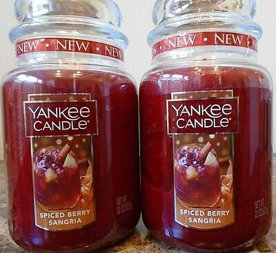 Yankee Candle   Spiced Berry Sangria   22 Oz Lot Of 2  Free Priority Shipping