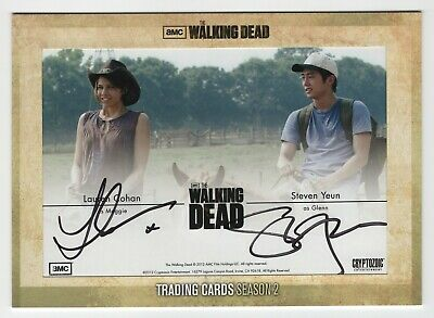 Walking Dead Season 2 Cohan & Yeun Oversized Dual Auto Card Da1 From Redemption
