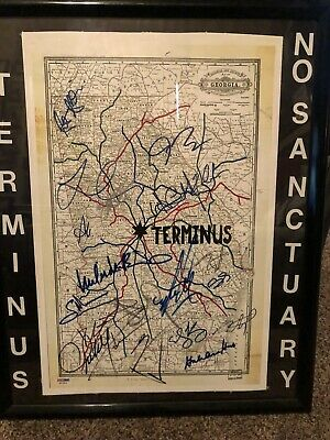 Walking Dead Terminus Poster 18 Signatures-certified Psa/dna