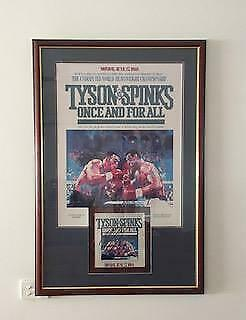 Signed Mike Tyson Vs Michael Spinks Original Program Framed With Poster Amazing!