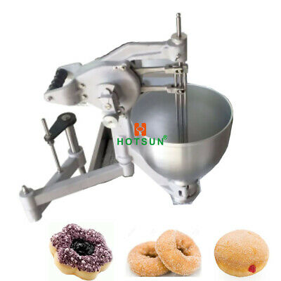 Commercial 7.5l Manual Doughnut Maker Flower Ring Ball Donut Machine 3 Molds