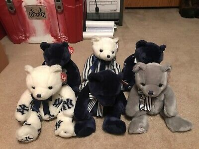 Yankee Ty Bears, Stadium Edition, Collection Of 6, Larger Size