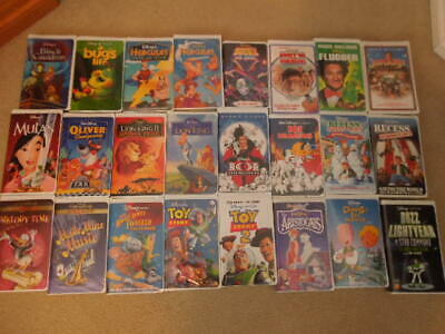 Disney Vhs Tapes - 61 Tapes - Older Tapes, Hard To Find Tapes And Black Diamond