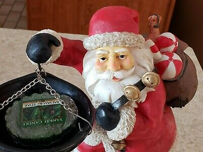 Yankee Candle Christmas Tart Warmer Burner Santa Rooftop At Chimney