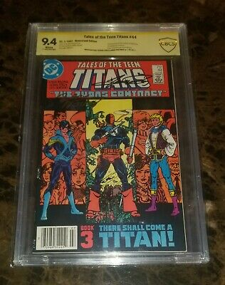 Tales Of The Teen Titans #44 Cbcs 9.4 Signed By George Perez And Marv Wolfman...