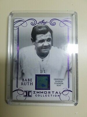 2017 Leaf Babe Ruth Immortal Collection Yankee Stadium Seat 1/1!