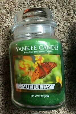"Yankee Candle "" Beautiful Day "" 22 Oz Jar New ~ Rare / Retired / Hard To Find"