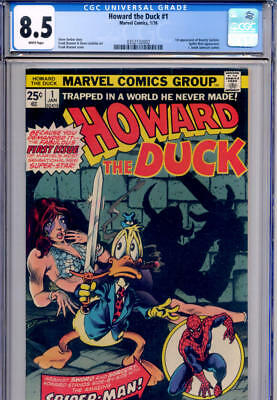 Howard The Duck #1 First Issue (jan 1976, Marvel) White Pages (wp) Cgc 8.5, Rare