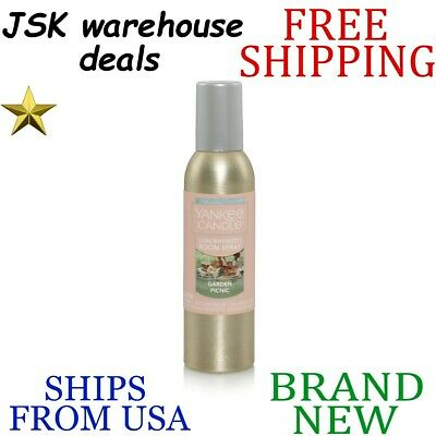 *new* Yankee Candle Fresh Garden Picnic Long Lasting Room Spray Up To 300 Sprays