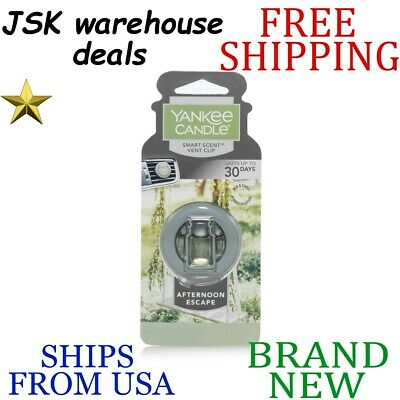 New Yankee Candle Smart Scent Afternoon Escape Long Lasting Liquid Car Vent Clip