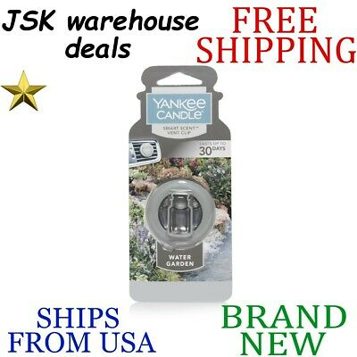 *new* Yankee Candle Water Garden Smart Scent Long Lasting Car Clip Air Freshener
