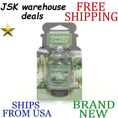*new* Yankee Candle Ultimate Car Jar Afternoon Escape Long Lasting Air Freshener