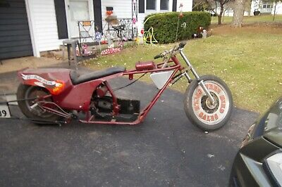 Super Rare Harley Vintage Drag Bike Rolling Chassis No Engine Or Trans