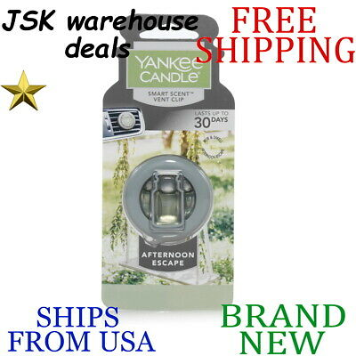 *new* Yankee Candle Smart Scent Afternoon Escape Car Vent Clip 0.96oz Wipe Clean