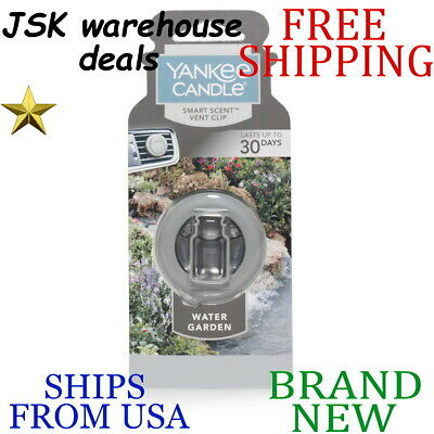 *new* Yankee Candle Water Garden Smart Scent Car Clip Air Freshener Wipe Clean