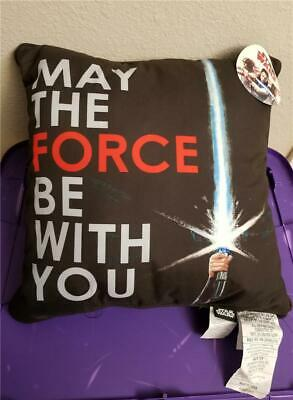 """New Star Wars May The Force Be With You Throw Pillow 16""""x16"""" Bed Decor"""
