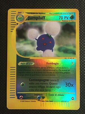 CARTE POKEMON - Jumpluff Reverse Foil Rara 17/147 NM Italian Aquapolis