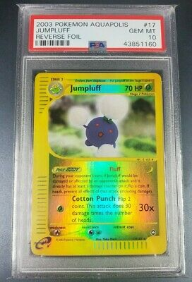 Pokemon PSA 10 Jumpluff Reverse Holo Aquapolis Set 17/147 Gem Mint