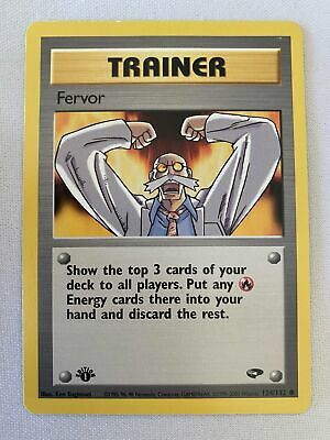 Fervor 124/132  Gym Challenge  1st Edition Common Pokemon Card NM