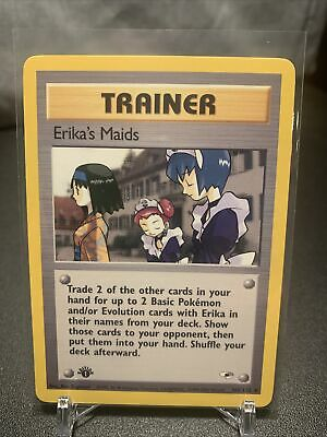 ERIKA'S MAIDS - 1st Edition Gym Heroes  - 109/132 - Uncommon - Pokemon - NM