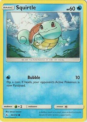 Pokemon Unbroken Bonds Squirtle Common Card 33/214 NM