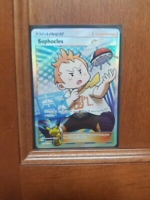 Pokemon Burning Shadows Sophocles 146/147 Full Art Ultra Rare LP