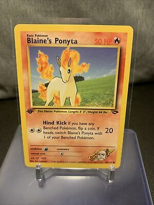 Blaine's Ponyta | NM/M | Gym Challenge 1st Edition 64/132 | Common | Pokemon