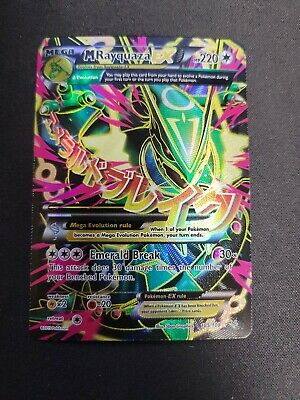 FULL ART Mega M Rayquaza EX ULTRA RARE 105/108 XY Roaring Skies Pokemon Holo LP