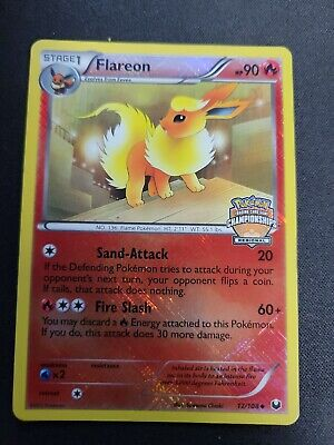 Pokemon Flareon 12/108 2012 BW Dark Explorers Regional Promo NO STAFF DAMAGED