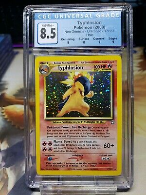 Pokemon Typhlosion Holo 17/111 - Neo Genesis Unlimited (2000) - NM/Mint 8.5 CGC