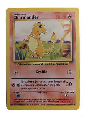 Pokemon CHARMANDER Pack Fresh Mint Base Set 1999, 2000, English Card #46
