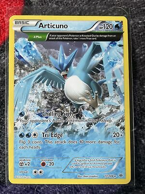 Articuno FULL ART NON HOLO RARE 17/108 (NM) Roaring Skies Pokemon Cards